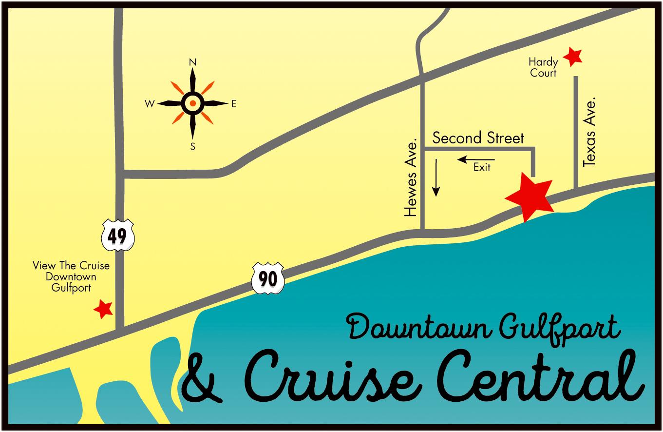 Map Cruise Central | Cruisin\' The Coast