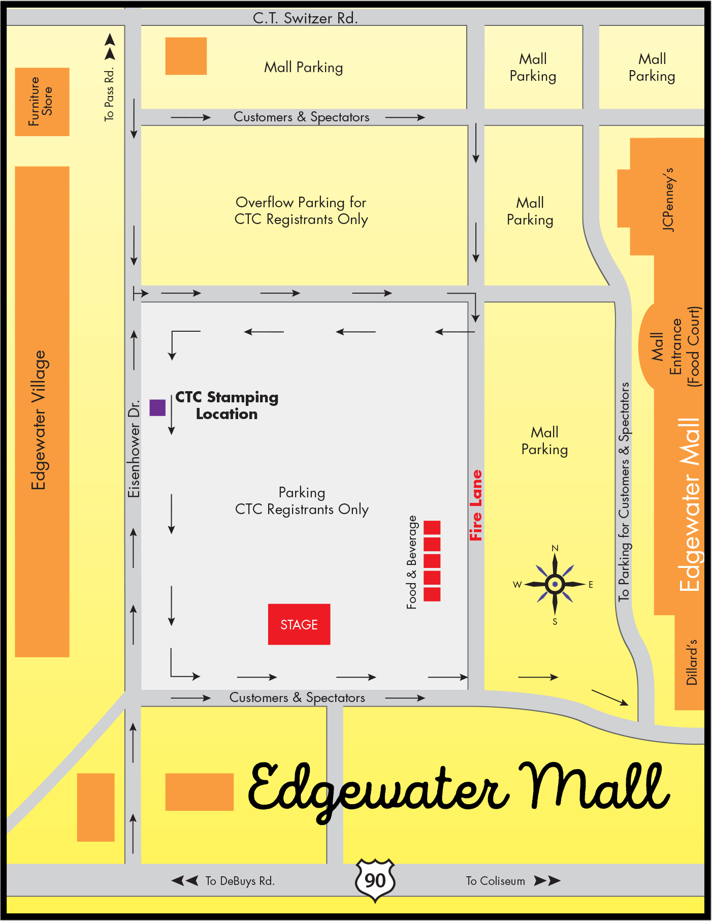 Map Edgewater Mall Cruisin The Coast